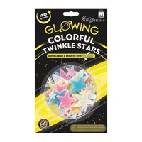 Glow in the Dark Twinkle Star color, 40st.