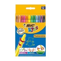 BIC - Kids, Farvekridt, Turn & Colour, 12 stk