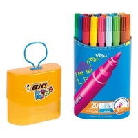 BIC - Kids, Tusser/Tuscher, Durable Pack Visa, 20 stk