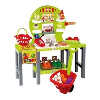 Ecoiffier 100% Chef market stall with Fruit, 34dlg.