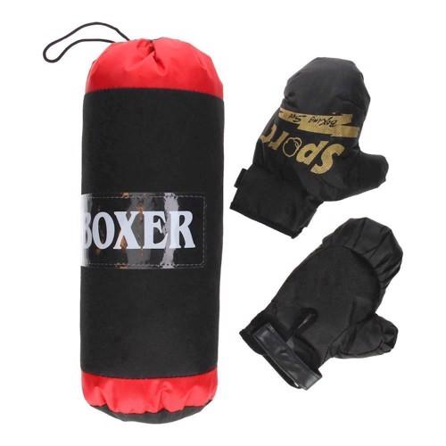 Boxningsset med boxningssäck och handskar