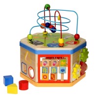 Wooden Activities Cube 7in1