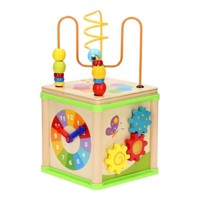 Wooden Activities Cube 5in1