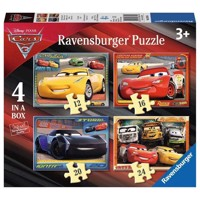 Disney Cars 3 Puzzle, 4in1
