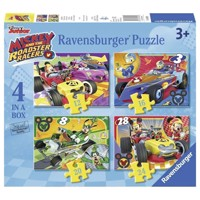 Mickey and the Roadster Racers Puzzle, 4in1