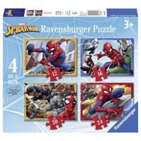 Spiderman Puzzle, 4in1