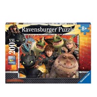 Ravensburger puslespil Hikkie, Astrid and the Dragons, 200st. XXL