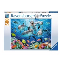 Ravensburger puslespil Dolphins in the coral reef, 500st.