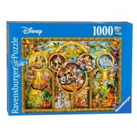 Ravensburger puslespil Most beautiful Disney themes, 1000pcs.