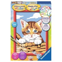 Ravensburger Painting by numbers-cat in the basket