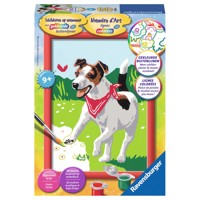 Ravensburger Painting by numbers-dog with butterfly