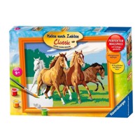 Ravensburger Painting by numbers-wild horses