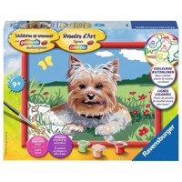 Ravensburger Painting by numbers-small Yorkshire Terrier
