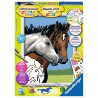 Ravensburger Painting by numbers-horse friendship