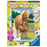 Ravensburger Painting by numbers-horse love