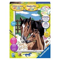 Ravensburger Painting by number - Mare with Foal