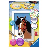 Ravensburger Painting by numbers-Horses look