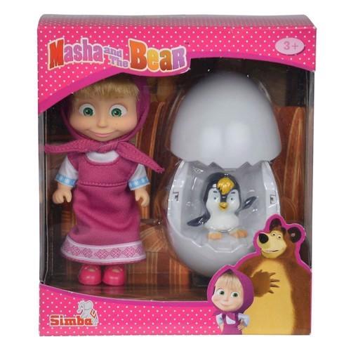 Masha and the Bear Penguin in Egg