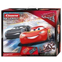 Carrera GO racerbane 6,2 m, Cars 3 Fast Not Load, med 2 biler og loop