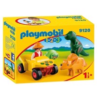 Playmobil 9120 Dino researcher with Quad