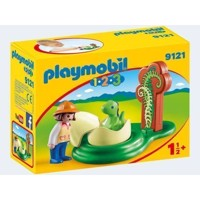 Playmobil 9121 Researcher with Baby Dino