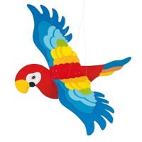 Wooden Swing Figure Parrot