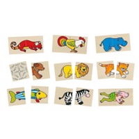 Memo and Puzzle Funny Animals