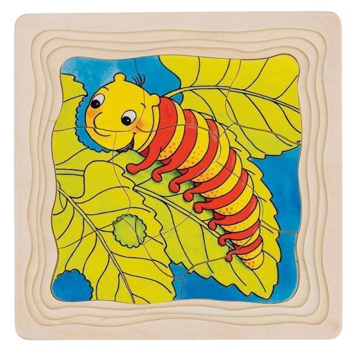 Wooden Layers Puzzle-Butterfly