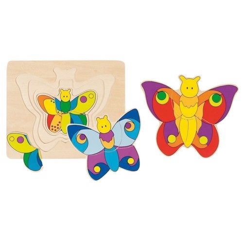 Butterfly 3-layer wooden Puzzle