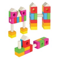 Wooden Building Blocks Construction
