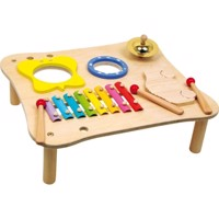 Trælegetøj, musikbord, instrumenter i træMusic Table
