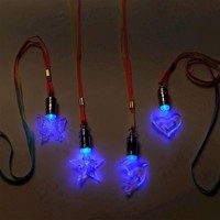 Necklace with LED light