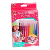 PlayGo Air Brush Tattoo Markers, 10st.