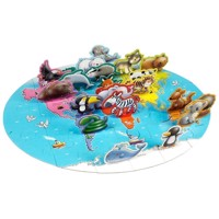 3D World animals Floor puzzle