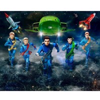 Thunderbirds Poster Walltastic Wallpaper/wallsticker