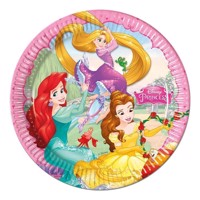 Disney Princess plates, 8pcs.