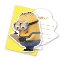 Minions invitations, 6pcs.