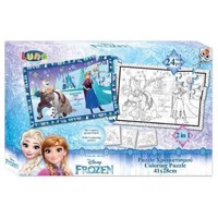 Color your own puzzle, 24st - Frozen