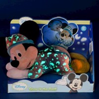 Mickey Mouse Knuffel Glow in the Dark