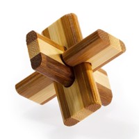 3D Bamboo Brain puzzle Double cross * *