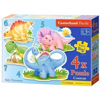 Puzzle Baby Dino's, 4in1