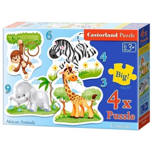 Puzzle African Animals, 4in1