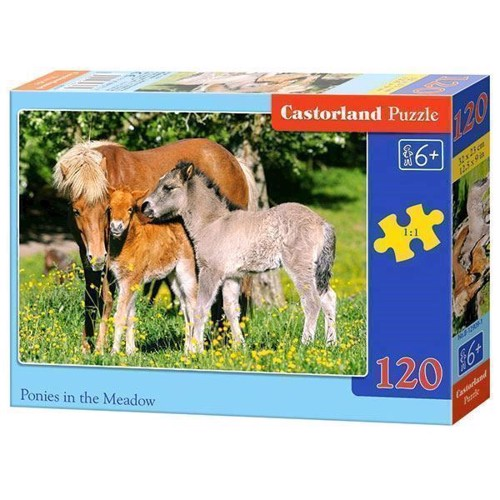 Puzzle Pony´s in the Wei, 120pcs.