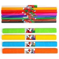 Crepe paper, set of 10 colors