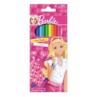Barbie coloring pencils, 12pcs.