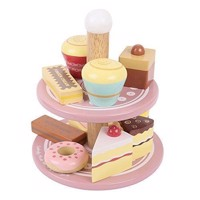 Wooden Whatnot with 12 Cakes