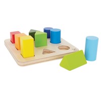 Hape Wooden Sorting Shelf Forms