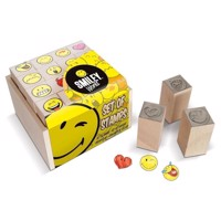 Multiprint Smiley 16 Ministempel, 1Stempelkissen