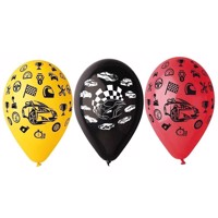 Race car Balloons, 5pcs.