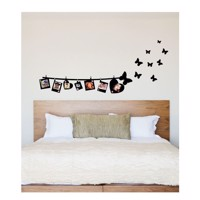 Wall sticker Photo Garland with Butterflies